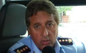 Il comandante della Polizia Municipale Col. Giuseppe Trotta
