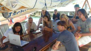 Vacanza e ricerca a bordo del Jean Gab, barca a vela di Oceanomare Ischia Delphis (foto terza)