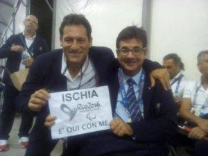 con Luca Pancalli presidente comitato italiano paralimpico