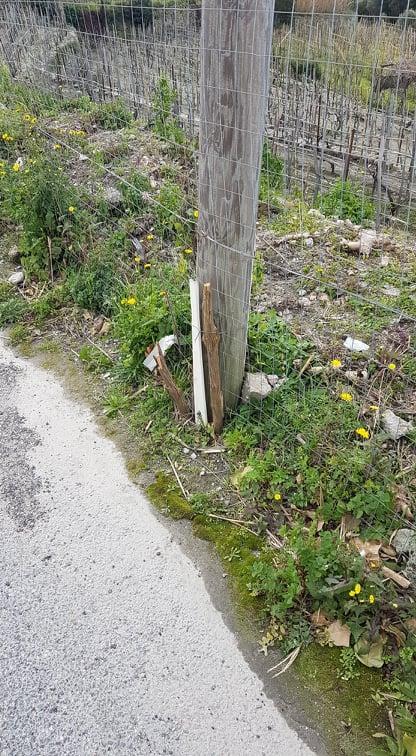 Photo of Pericolo in via Montecorvo, palo della Tim rischia di cadere