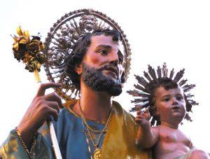 ANTICA STATUA DI SAN GIUSEPPE NELLA CHIESA DI PORTOSALVO A ISCHIA
