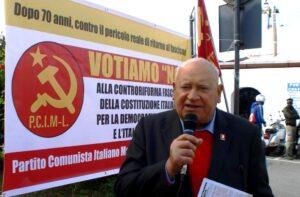 Comizio di Domenico Savio per il NO del PCIML al Referendum Costituzionale del 4 dicembre 2016.