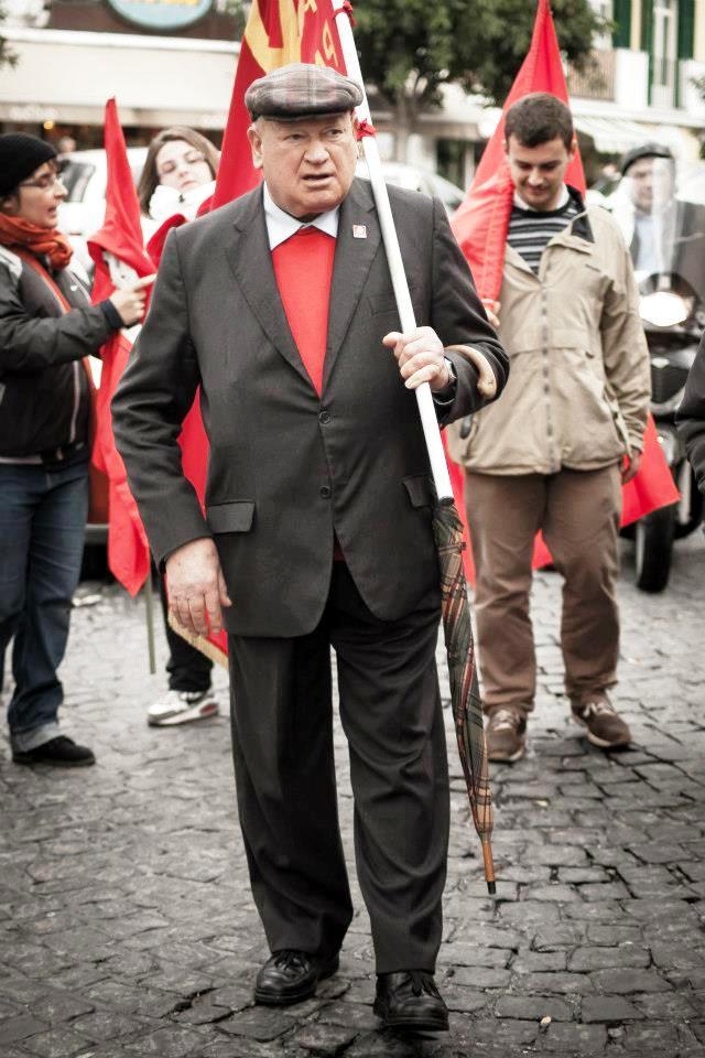 Domenico Savio in marcia in manifestazione degli studenti