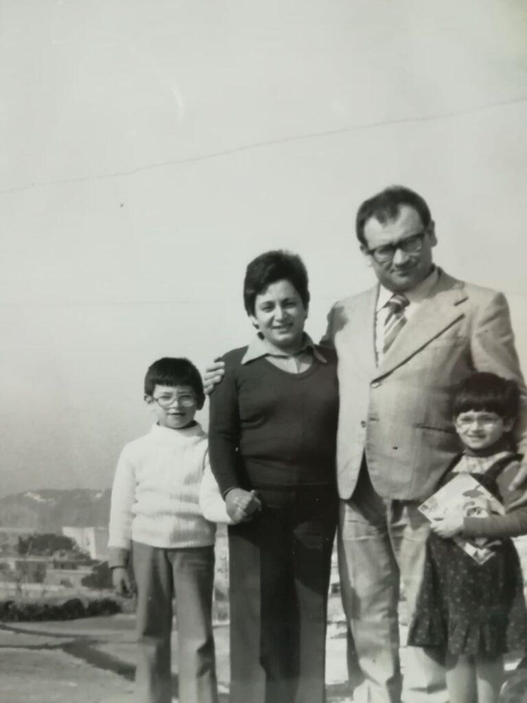 Domenico savio con la moglie maria e i figli Gennaro e Gabriella