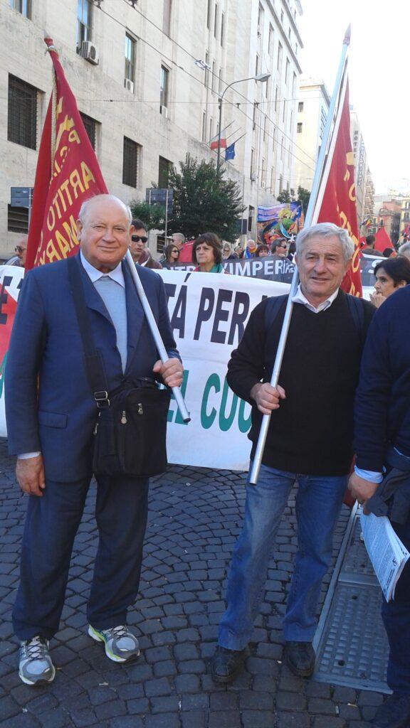 Domenico savio e Vincenzo Di Maio a manifestazione a Napoli