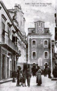 ISCHIA PONTE CON L'ANTICO OROLOGIO S RINTOCCHI -ANNO 1870
