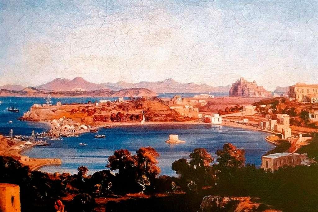 L'EX LAGO DI ISCHIA CHE DIVENTA PORTO BORBONICO IL 17 SETTEMBRE 1854