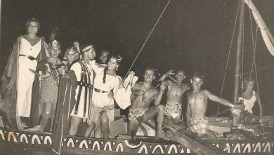 1952 SECONDO ANNO DELLA FESTA A MARE AGLI SCOGLI DI S'ANNA - LA STORICA FELUCA DEL REGINA ISABELLA
