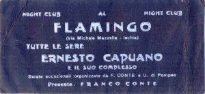 PRIMI ANNI '60 GLI ANNUNCI DEL FLAMENGO DI VIA MICHELE MAZZELLA