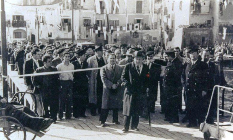 TAGLIO DEL NASTRO INAUGURAZIONE DEL MATTINO 1 MARZO 1951